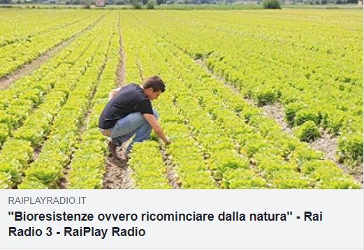"""Ricominciare dalla Natura! Puntata """"Uomini e Profeti"""" su Radio RAI 3"""